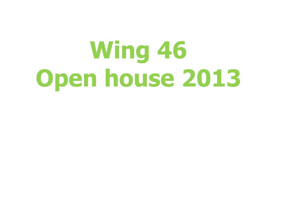 Wing 46 Open house 2013
