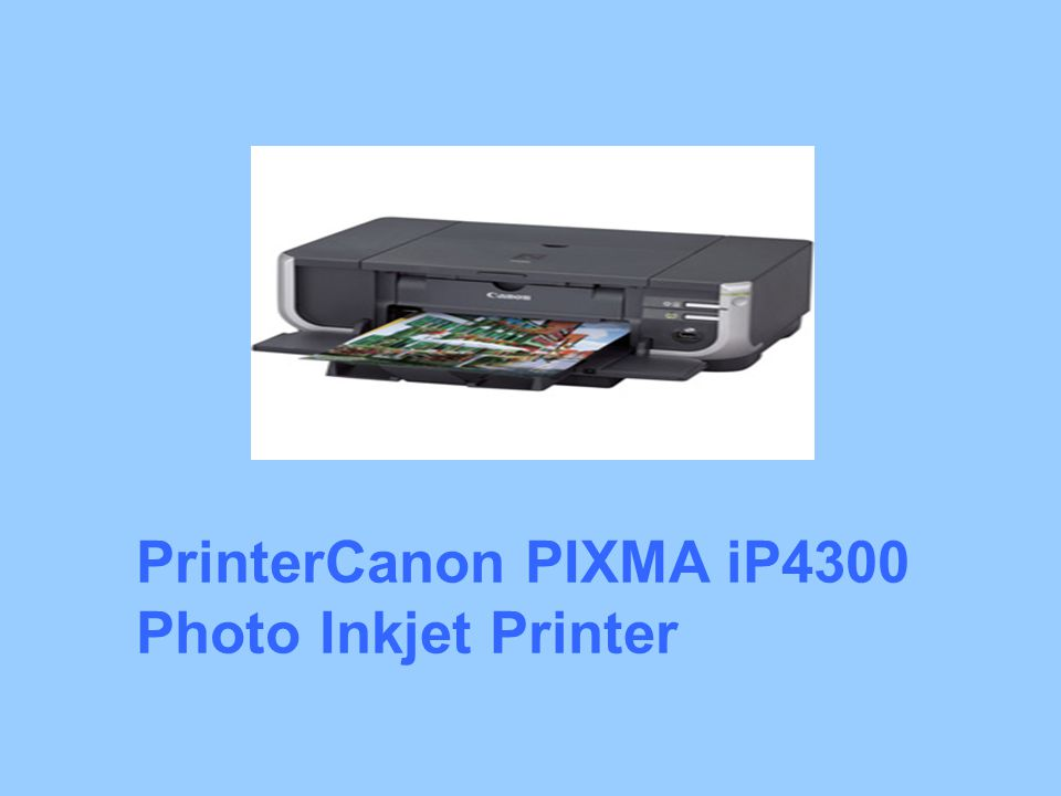 PrinterCanon PIXMA iP4300 Photo Inkjet Printer