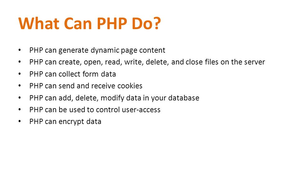 What Can PHP Do.