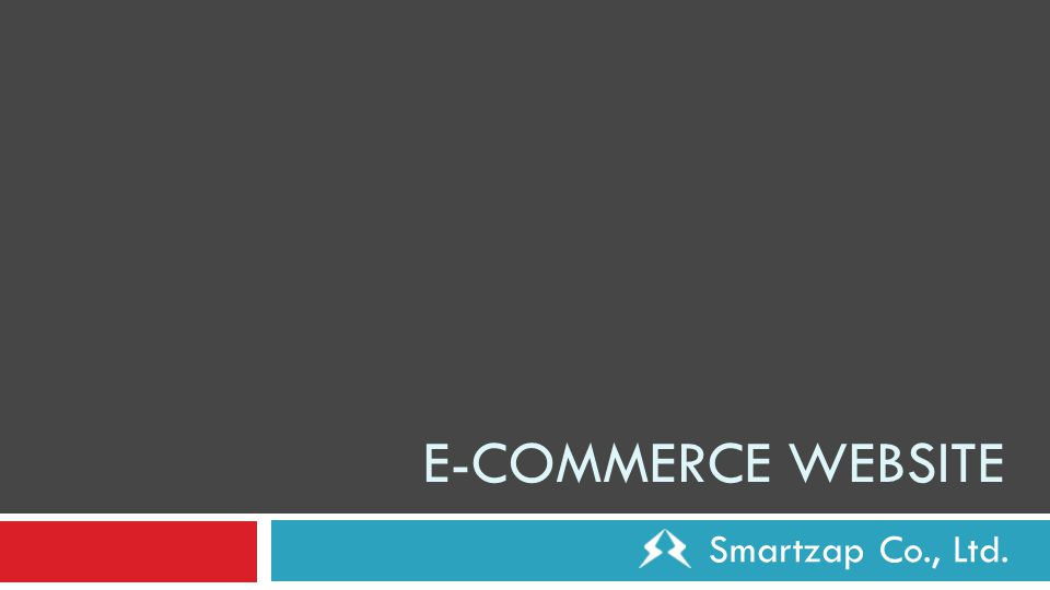 E-COMMERCE WEBSITE Smartzap Co., Ltd.