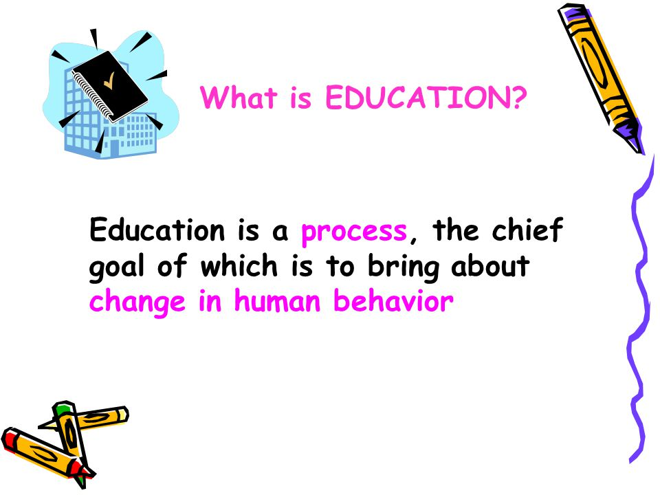 What is EDUCATION.