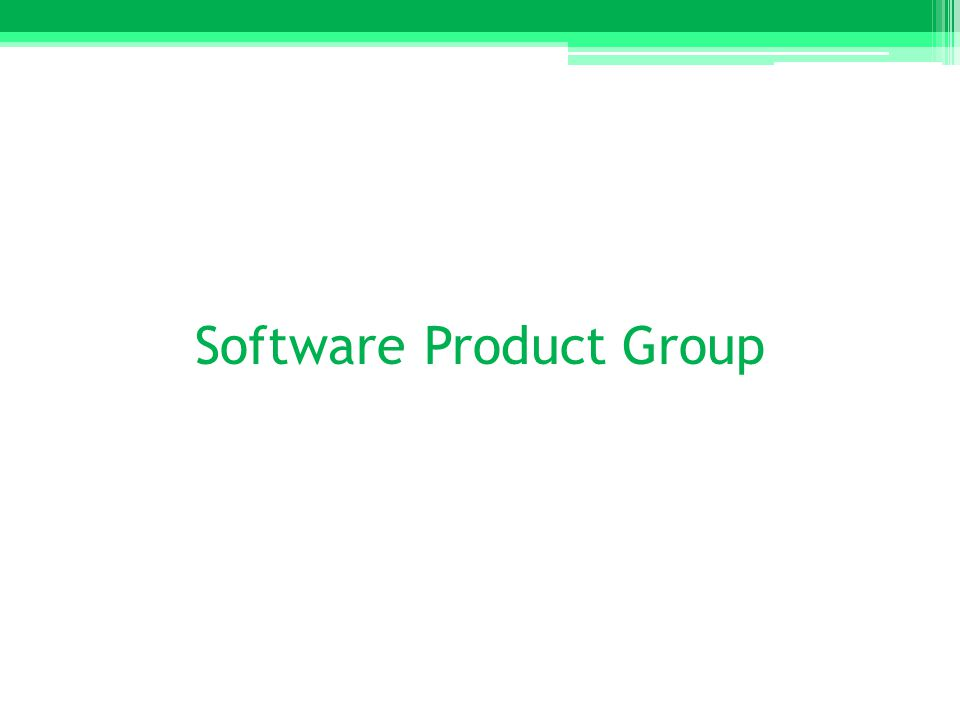 Software Product Group