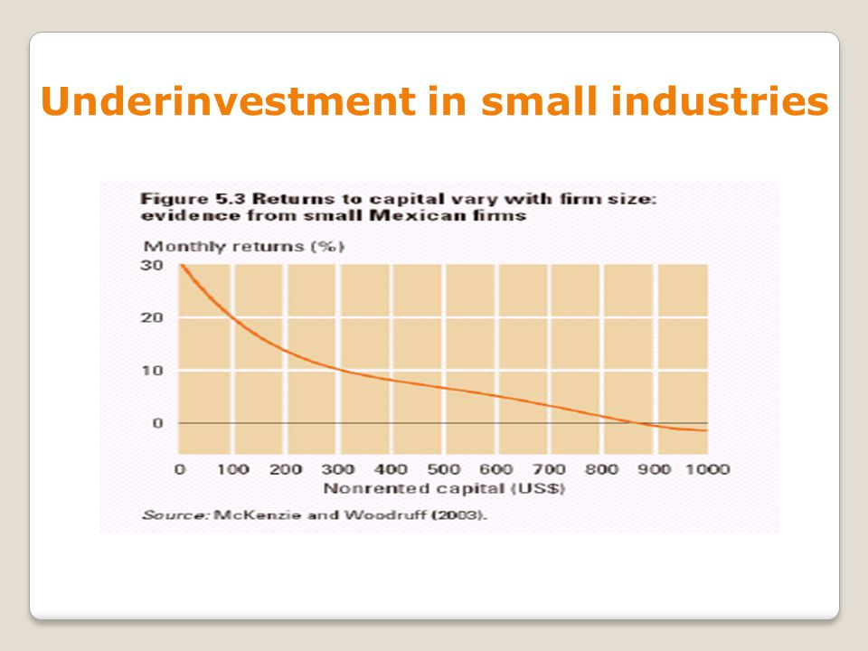 Underinvestment in small industries