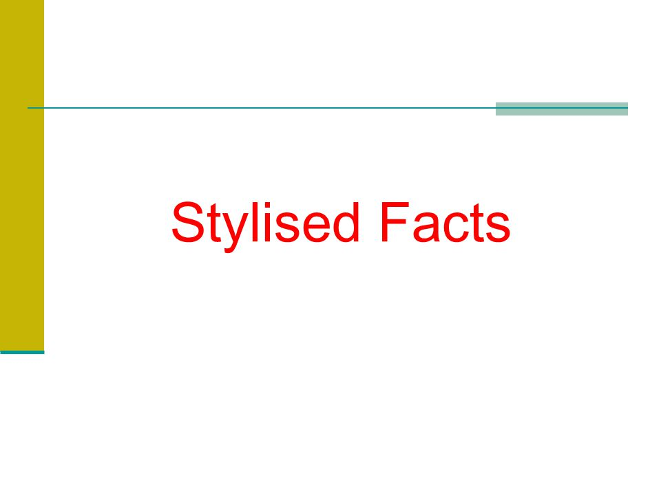 Stylised Facts