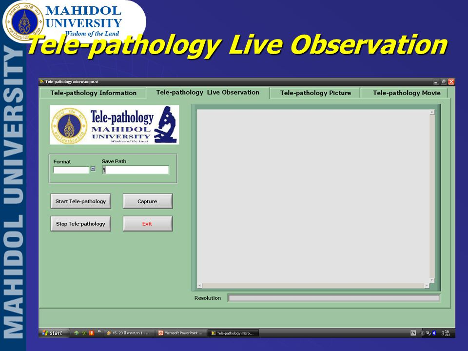 Tele-pathology Live Observation