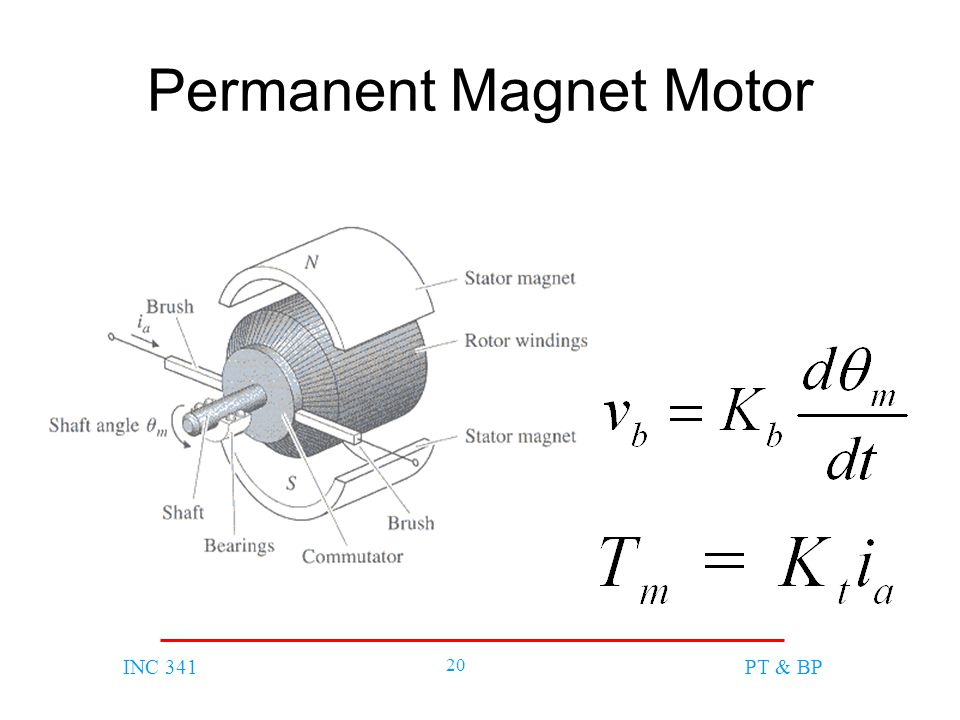INC 341 20 PT & BP Permanent Magnet Motor