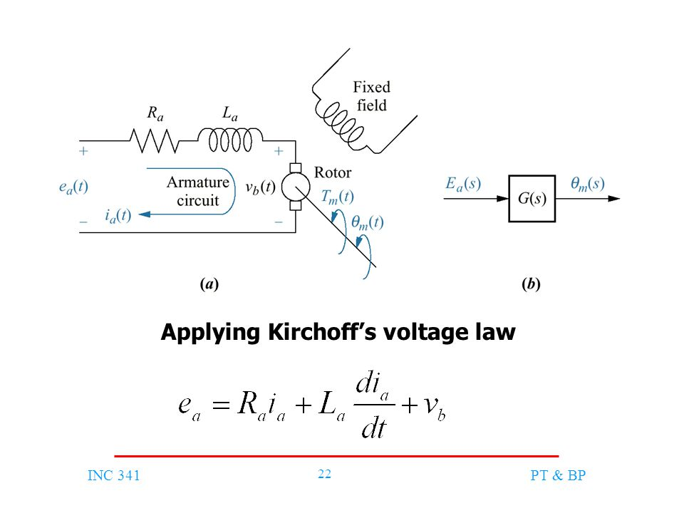 INC 341 22 PT & BP Applying Kirchoff's voltage law