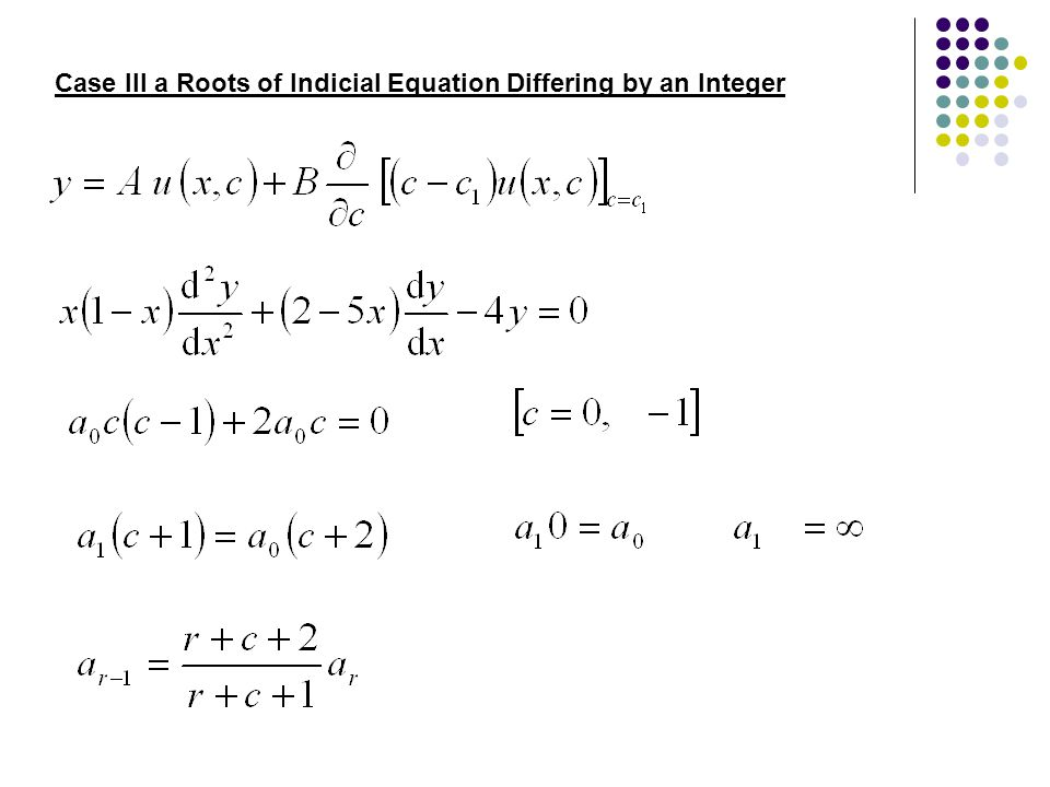 Case III a Roots of Indicial Equation Differing by an Integer