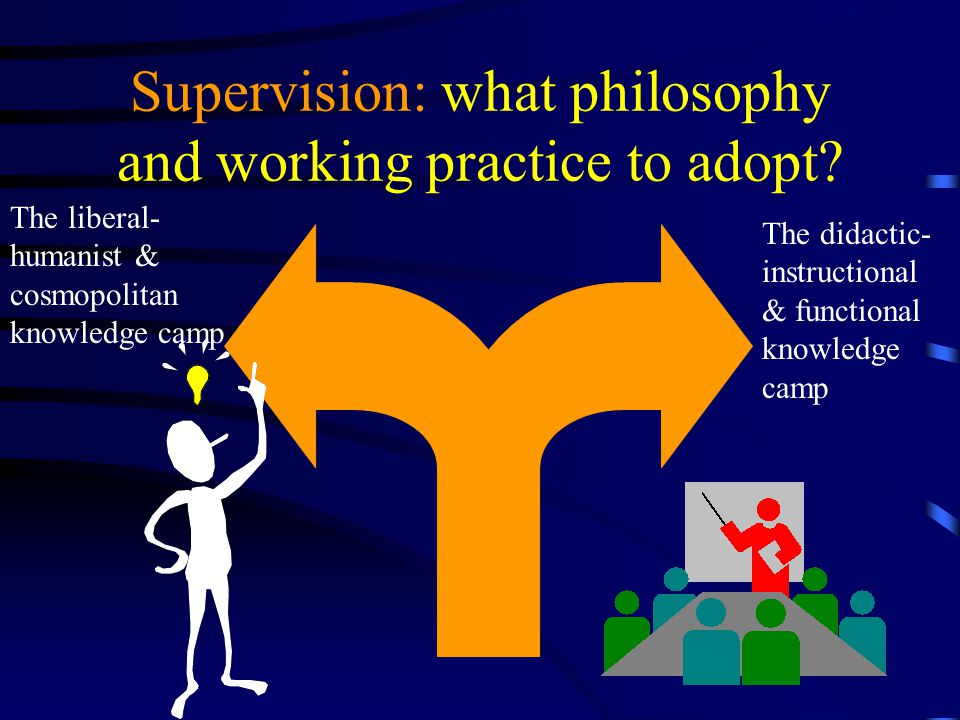 Supervision: what philosophy and working practice to adopt.