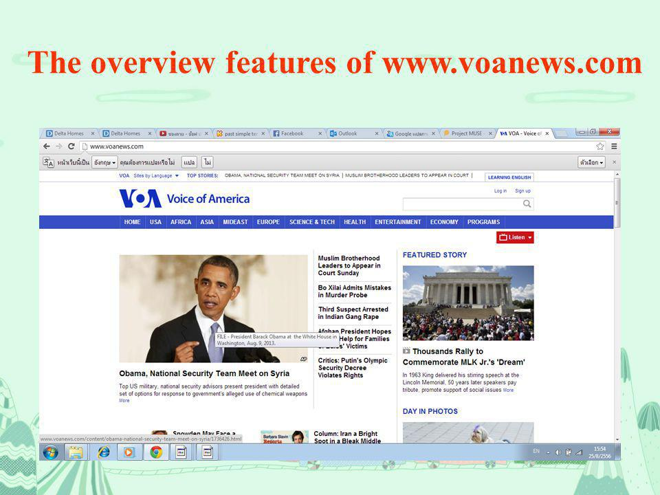 The overview features of www.voanews.com
