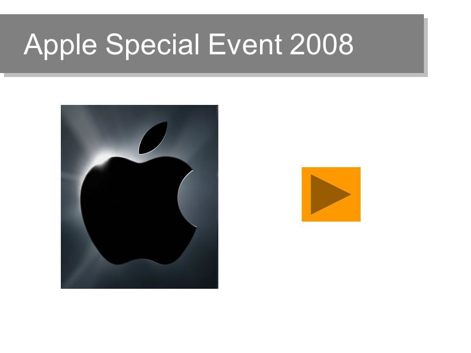 Apple Special Event 2008